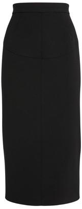 No.21 N21 Zip-Detail Midi Skirt