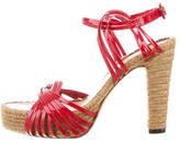 Jean Paul Gaultier Woven Leather Platform Sandals