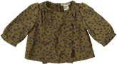 Anthem of the Ants Cafe Ruffle Blouse (Baby) - Leopard Floral-12 Months