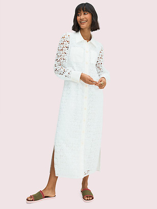 Kate Spade Leaf Lace Shirtdress