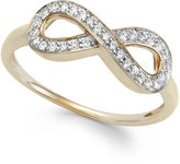 Wrapped wrappedTM Diamond Infinity Ring in YellOraTM (1/6 ct. t.w.)
