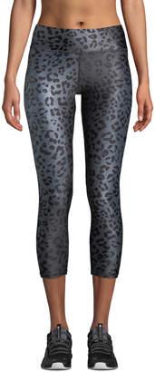 Terez Animal-Print Tall Band Capri-Length Leggings