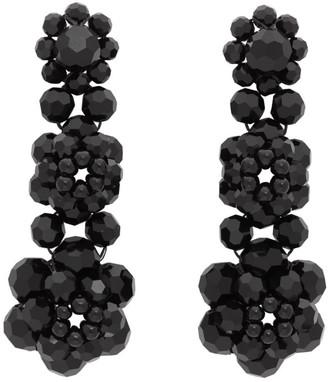 Simone Rocha Black Three Tier Earrings
