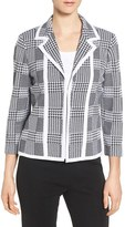 Ming Wang Women's Plaid Knit Jacket
