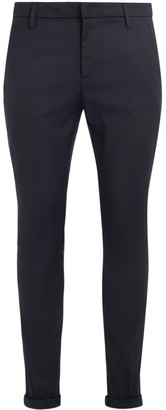 Dondup Gaubert Model Trousers Made Of Blue And Black Pied De Poule Patterned Fabric