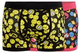 Red Herring Pack Of Two Black 'smiley World' Print Keyhole Trunks