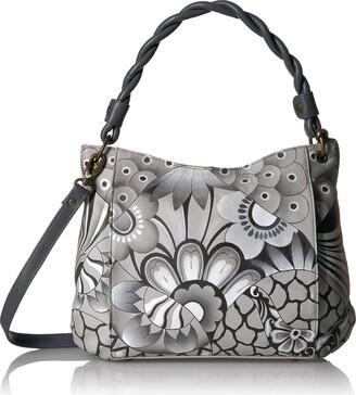 Anuschka Anna By Handpainted Leather Women's Slim Bag Top Handle Bag