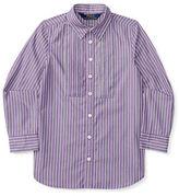 Ralph Lauren Girls 2-6x Long Sleeve Striped Top