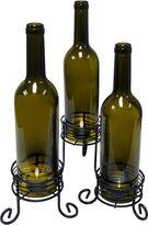 Epicurean EpicureanistTM Set of 3 Wine Bottle Tealight Candle Holders