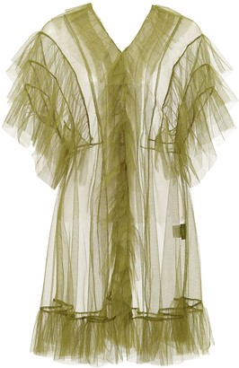 By Moumi Tulle Babydoll Olive Green