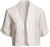 Helena Two Star Dog Crop Jacket - Textured Linen, Short Sleeve (For Women)