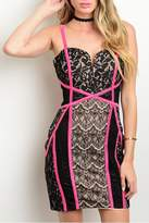Wow Couture Mini Lace Dress