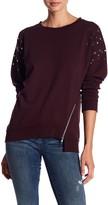 Joe's Jeans Embellished Stud Sleeve Sweatshirt