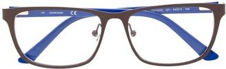 square frame optical glasses