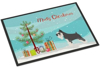 Mini A Ture Miniature Schnauzer Christmas Door Mat