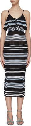 Self-Portrait Multi Stripe Cami Dress
