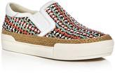 Ash Cali Woven Slip-On Platform Sneakers