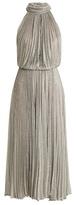 Maria Lucia Hohan Ballari pleated halterneck mesh dress