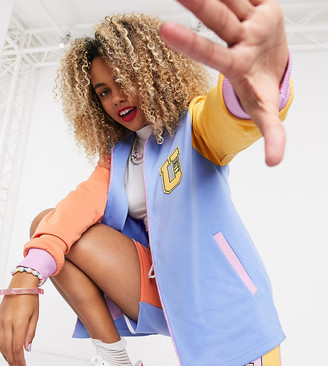 ASOS DESIGN x glaad co-ord track jacket with unity print in colour-block polyticot