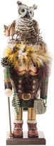 Kurt Adler Hollywood Woodsman Nutcracker with Owl Hat