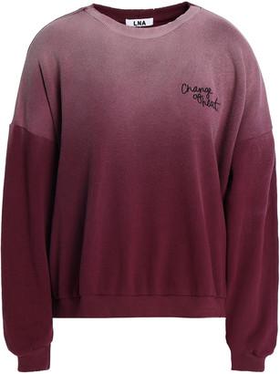 LnA Embroidered Degrade Cotton-fleece Sweatshirt