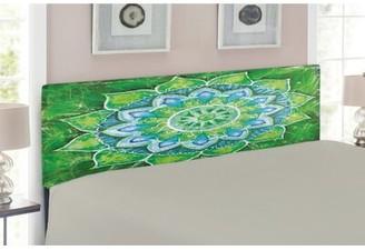 East Urban Home Mandala Queen Upholstered Panel Headboard Size: Twin