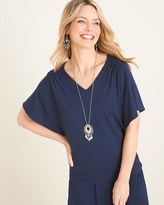 Chico's Chicos Flutter-Sleeve V-Neck Top