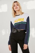Urban Outfitters Alpha Striped Cropped Top