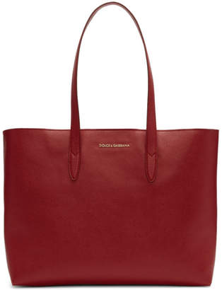 Dolce & Gabbana Red Dauphine Shopping Tote