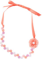 Osh Kosh Beaded & Chiffon Flower Necklace