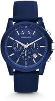 Armani Exchange Active Silicone Strap Chronograph Watch