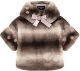 MonnaLisa False fur jacket with a removable collar