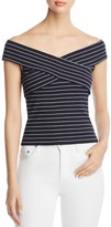 Cupcakes And Cashmere Lori Striped Off-the-Shoulder Top