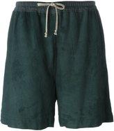 Rick Owens loose-fit shorts - women - Lamb Skin/Cotton/Cupro - 42
