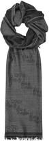 Vivienne Westwood Grey Orb-jacquard Wool Scarf
