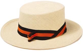 Sensi Canvas-trimmed Toquilla Straw Panama Hat