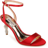 Badgley Mischka Evamarie Ankle-Wrap Sandals with Crystal Heel