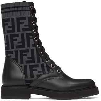 Fendi Black Forever Rockoko Boots
