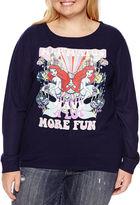 Fifth Sun The Little Mermaid Brushed Fleece Sweatshirt- Juniors Plus