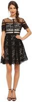 Donna Morgan Short Sleeve Lace Shirt Dress with Collar
