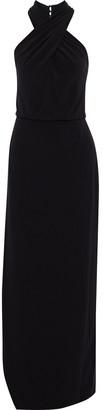 Halston Asymmetric Crepe Gown