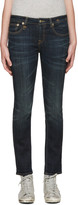R 13 Indigo Kate Skinny Jeans