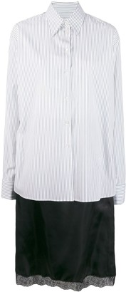 MM6 MAISON MARGIELA striped button-front shirt