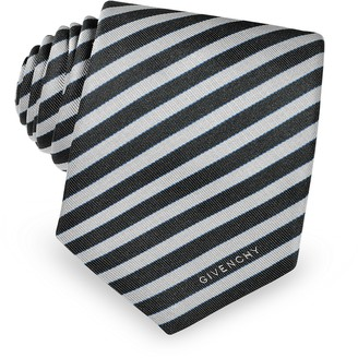 Givenchy Narrow Silver Stripe Tie