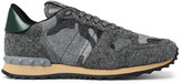 Valentino Camouflage-Print Felt Sneakers
