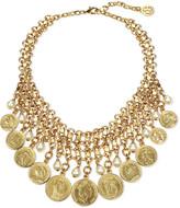Ben-Amun Ben Amun Coin & Pearly Bib Necklace