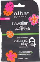 Alba Hawaiian Detox Sheet Mask, Anti-Pollution Volcanic Clay (Pack of 8)