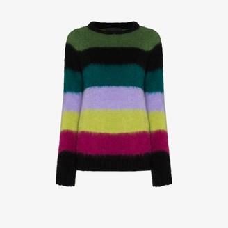 AGR Brushed Stripe Knit Sweater