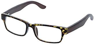 Peepers Women's Offshore - Tortoise/Wood 2437100 Square Reading Glasses
