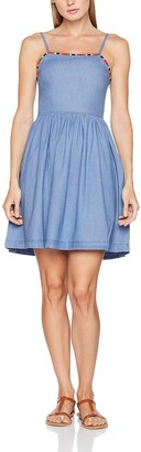 Tommy Jeans Women's Chambray Sleeve-less Peplum Dress